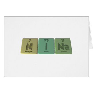 Nina  as Nitrogen Iodine Sodium Card