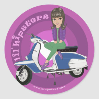 Nina Classic Round Sticker