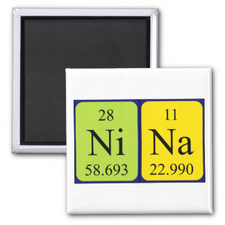 Nina periodic table name magnet