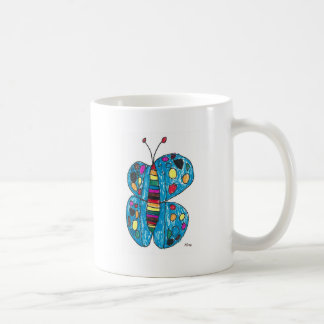 Nina Rainbow Butterfly with Spots Coffee Mug