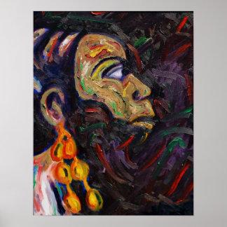 Nina Simone Jazz Painting Poster