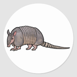 Nine Banded Armadillo Round Sticker