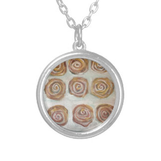 Nine Buns One Maple Bar Silver Plated Necklace