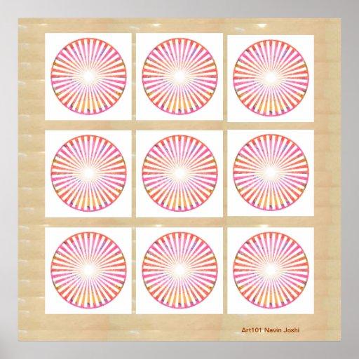 Nine Chakra - Dedication to 9 Roopa of Goddess Poster