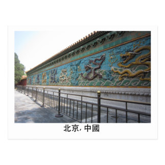 Nine Dragon Wall Postcard