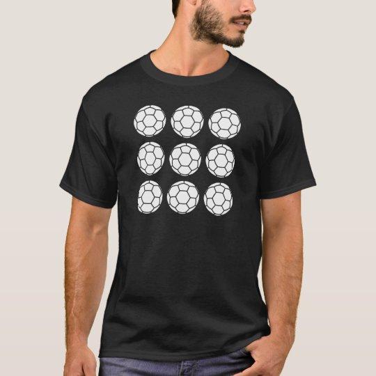 Nine Football Symbols - White T-Shirt