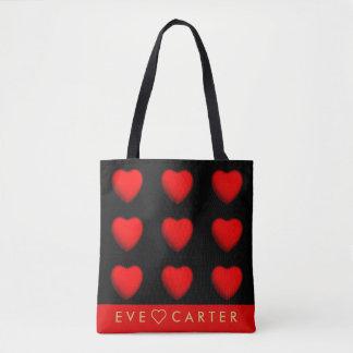 Nine Hearts Tote Bag