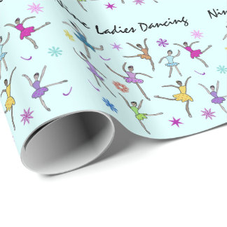 Nine Ladies Dancing Wrapping Paper