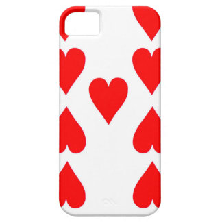 Nine of Hearts Playing Card iPhone 5 Case