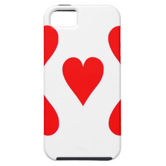 Nine of Hearts Playing Card iPhone 5 Cover