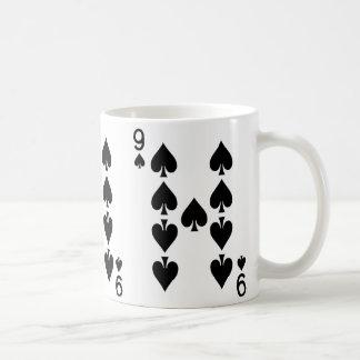 Nine of Spades Playing Card Coffee Mug
