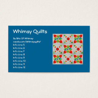 Nine Patch Heart Quilt Business Card