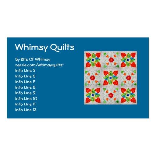 Nine Patch Heart Quilt Business Card Template