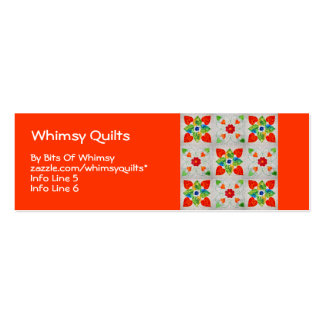 Nine Patch Heart Quilt Business Cards