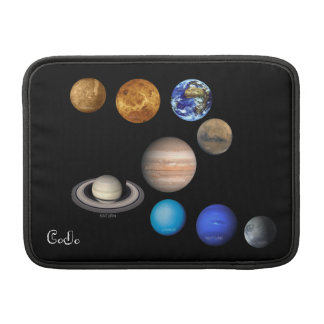Nine Planets in the Solar System MacBook Sleeves