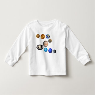 Nine planets in the solar system. Mercury,Venus, Toddler T-shirt