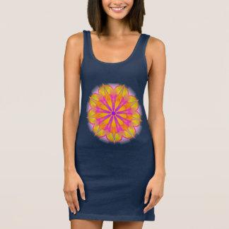 Nine-pointed lotus star Baha'i mandala Sleeveless Dress