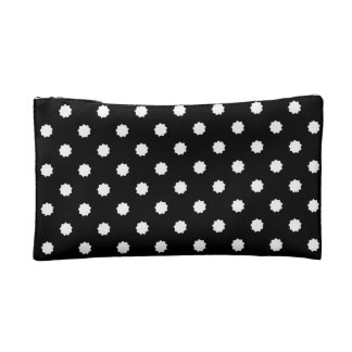 Nine-pointed star black and white bag cosmetic bag