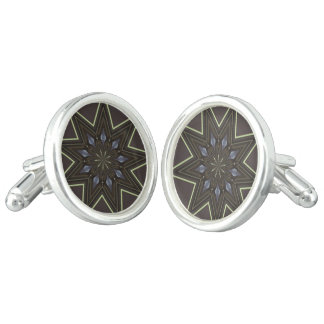 Nine Pointed Star Cuff Links
