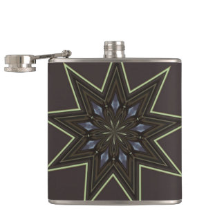 Nine Pointed Star Hip Flask