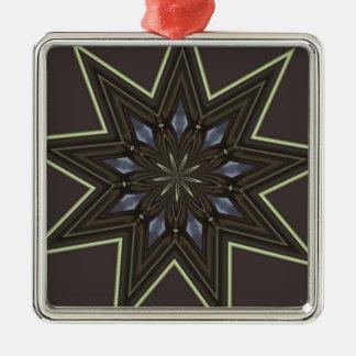 Nine Pointed Star Metal Ornament