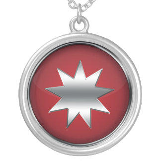 Nine Pointed Star Silver Plated Necklace