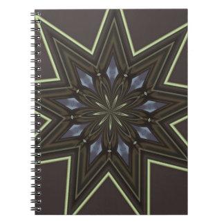 Nine Pointed Star Spiral Notebook