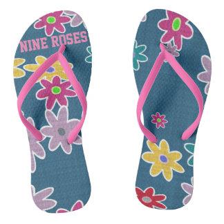 Nine Roses Flip Flops