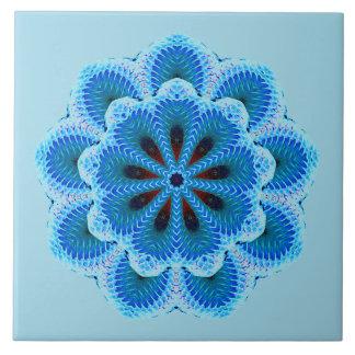 Nine Sided Blue Mandala Tile