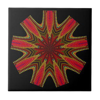 Nine Sided Patterned Mandala Tile