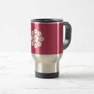 Nine stars-style cherry blossoms travel mug