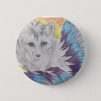 Nine tailed fox - Fantasy drawing 2 Inch Round Button