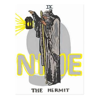 NINE THE HERMIT TAROT POSTCARD