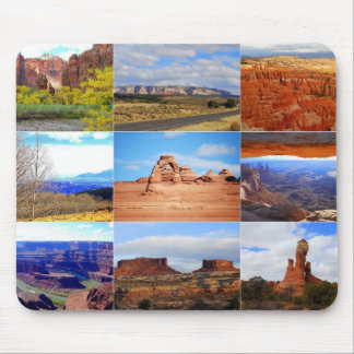 Nine Utah Landscape Icons Mouse Pad