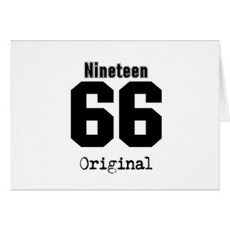 Ninen 66 Original 29th Birthday 1966 Vintage Card