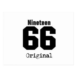 Ninen 66 Original 29th Birthday 1966 Vintage Postcard