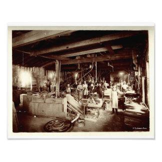 Nineteenth Century Water Pattern Maker's Shop Photo Print