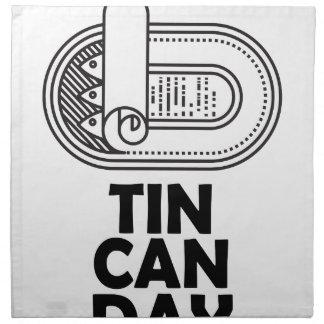 Nineteenth January - Tin Can Day Napkin