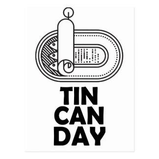 Nineteenth January - Tin Can Day Postcard