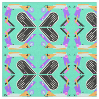 Nineties Neon Butterfly Pattern Fabric
