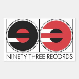Ninety Three Records Stickers