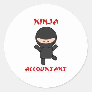 Ninja Accountant Classic Round Sticker