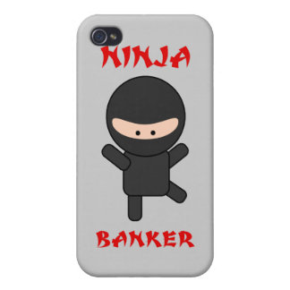 Ninja Banker Cover For iPhone 4