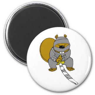 Ninja Beaver 2 Inch Round Magnet