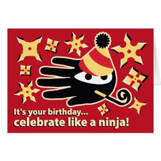 Ninja Birthday Card. Celebrate like a ninja Card