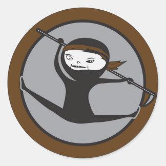 Ninja Brown Belt Stickers