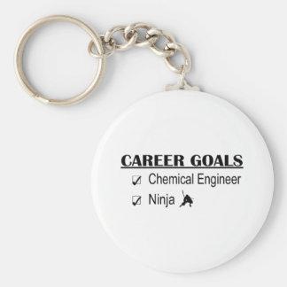 Ninja Career Goals - Chemical Engineer Basic Round Button Keychain