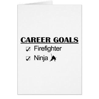 Ninja Career Goals - Firefighter Card
