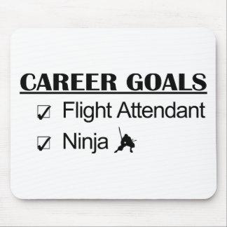 Ninja Career Goals - Flight Attendant Mouse Pad