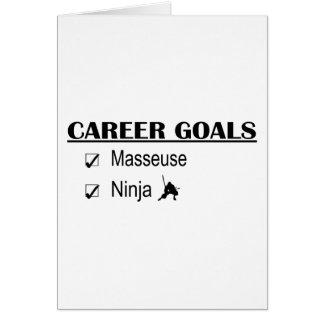 Ninja Career Goals - Masseuse Card